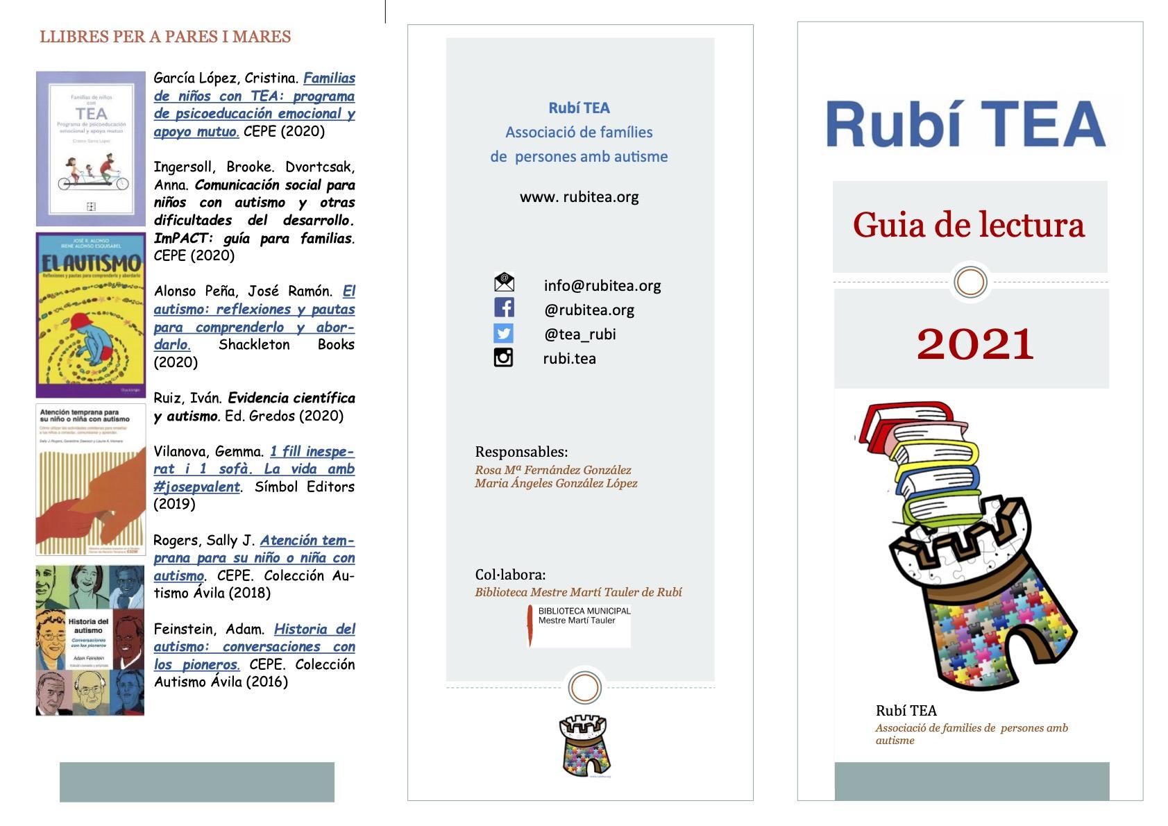 guia de lectura rubitea